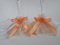Mežģīņu dekors glāzēm Laškrāsas