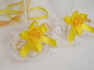 Dekoratīvās glāžu mežģīnes - Koši dzeltenas