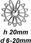 ZV20/6-20 Vertikālā stiegrojuma ierobežotājs  h 20mm