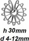 ZV30/4-12 Vertikālā stiegrojuma ierobežotājs  h 30mm