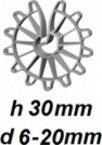 ZV30/6-20 Vertikālā stiegrojuma ierobežotājs  h 30mm