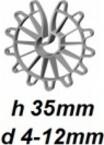 ZV35/4-12 Vertikālā stiegrojuma ierobežotājs  h 35mm