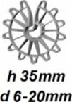 ZV35/6-20 Vertikālā stiegrojuma ierobežotājs  h 35mm