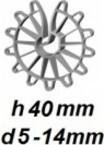 ZV40/5-14 Vertikālā stiegrojuma ierobežotājs  h 40mm