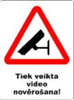 """Uzlīme """"Video novērošana"""" 15x22"""