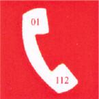 Drošam darbam Telefons ugunsdzēsības un glābšanas